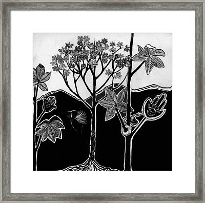 Framed Print featuring the drawing Tree Of Life by Aurora Levins Morales