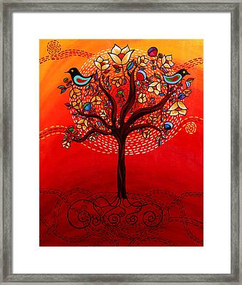 Tree Of Life Framed Print by Catherine Barry