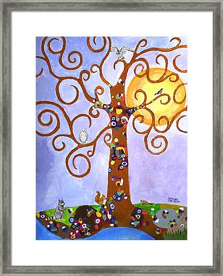 Gustav Klimt Tree Of Life Framed Print by Ethan Altshuler