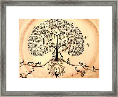 Tree Of Life II Framed Print by Anjali Vaidya