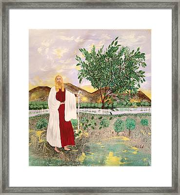 Tree Of Life- Jesus Framed Print