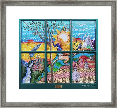 Tree Of Life Framed Print by Judy Via-Wolff