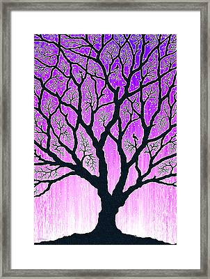 Framed Print featuring the digital art Tree Of Light 2 by Cristophers Dream Artistry
