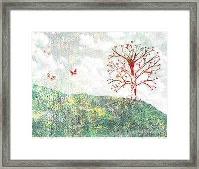 Tree Of Love Framed Print by Aged Pixel
