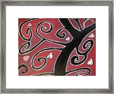Tree Of Love Framed Print by Paula Brown