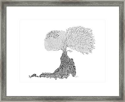 Tree Of Uncertainty Framed Print