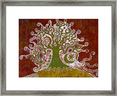 Tree On A Hill Framed Print by Victoria Dresdner