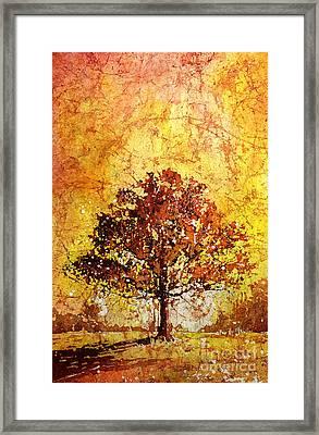 Tree On Fire Framed Print by Ryan Fox