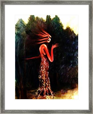 Tree Person Framed Print by Kayla Giampaolo