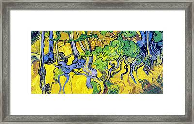 Tree Roots And Tree Trunks Framed Print by Vincent Van Gogh