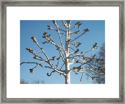 Tree Sculpture Framed Print by Paula Rountree Bischoff
