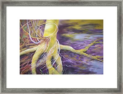 Tree Seeling Water Framed Print by Sheliah Halderman