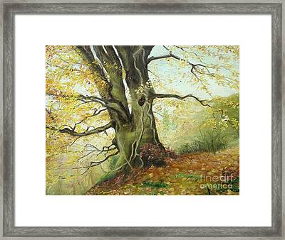 Framed Print featuring the painting Tree by Sorin Apostolescu