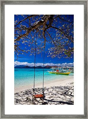 Tree Swing And Shadow  Framed Print by Fototrav Print