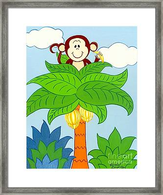 Tree Top Monkey Framed Print