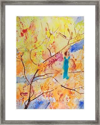 Tree Walking Framed Print