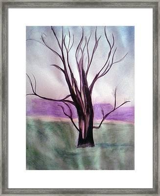 Tree Watercolor Framed Print