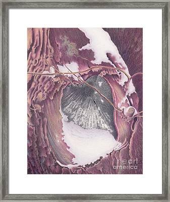 Treeheart Framed Print by Elizabeth Dobbs