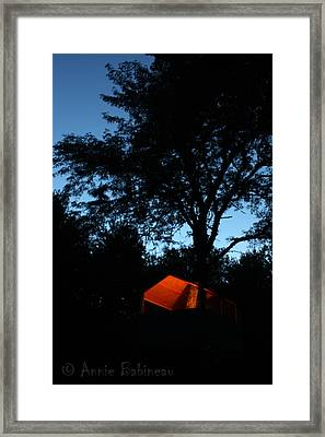 Treehouse Campout Framed Print by Anne Babineau