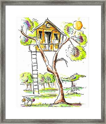 Treehouse Framed Print by Jason Nicholas