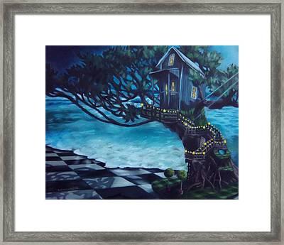 Treehouse Framed Print by Lori Keilwitz