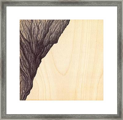 Framed Print featuring the drawing Treerock  by Giuseppe Epifani