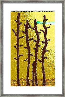 Trees - A Tribute To Vivian Anderson Framed Print by Lenore Senior