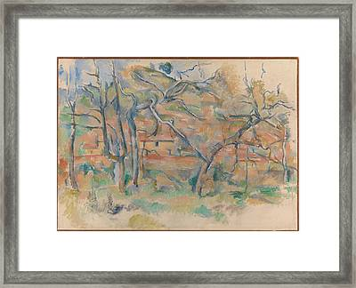 Trees And Houses Provence Framed Print