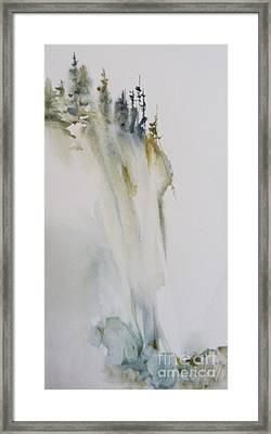 Trees Cliffs And Rocks Framed Print
