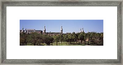 Trees In A Campus, Plant Park Framed Print by Panoramic Images