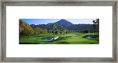 Trees In A Golf Course, El Dorado Framed Print by Panoramic Images