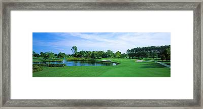 Trees In A Golf Course, Rehoboth Beach Framed Print by Panoramic Images