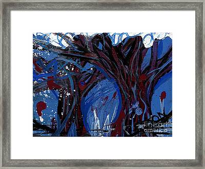 Trees In Snow Framed Print by Genevieve Esson