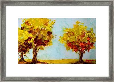 Trees In The Fall Framed Print by Patricia Awapara