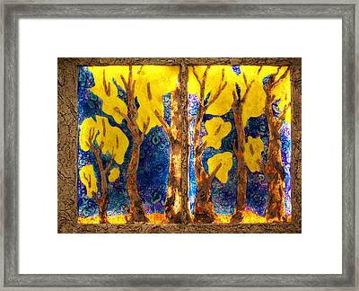 Trees Inside A Window Framed Print