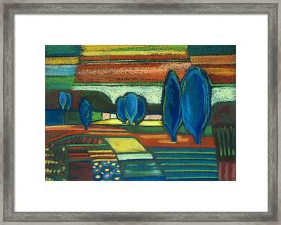 Trees Of Blue Framed Print by Gergana Valkova