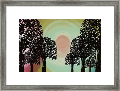 Trees Of Light Framed Print
