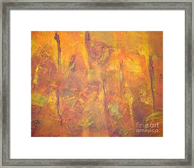 Trees Of The Field Framed Print by Olivia  M Dickerson