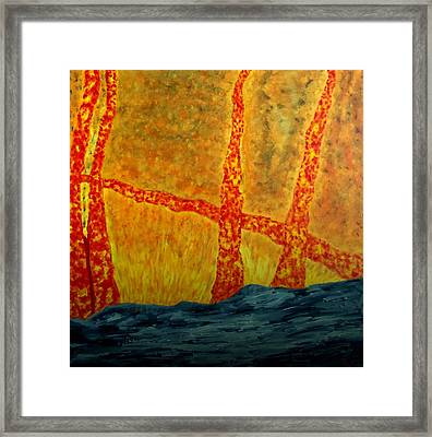 Trees On Fire Framed Print by Ron Kandt