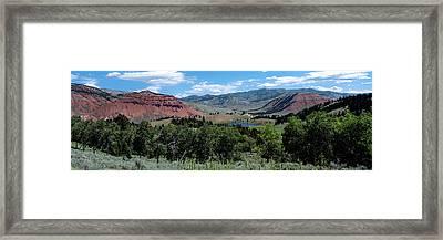 Trees On Red Hills, Gros Ventre Framed Print