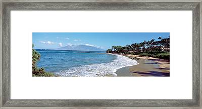 Trees On The Beach, Molokai, Maui Framed Print by Panoramic Images