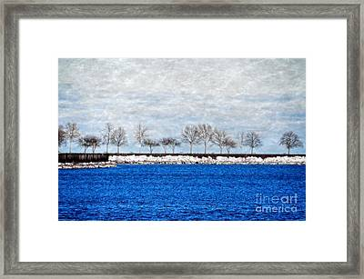 Trees On The Edge Framed Print by Mary Machare