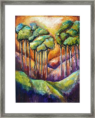 Trees Framed Print by P Maure Bausch