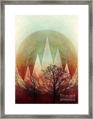 Trees Under Magic Mountains I Framed Print