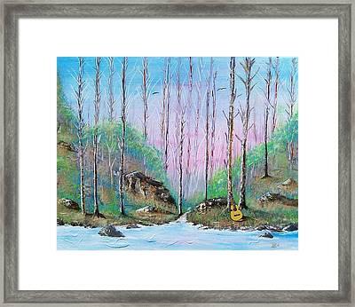 Trees With Cuatro Framed Print by Tony Rodriguez
