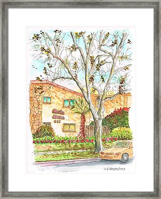 Trees Without Leaves In Hollywood-california Framed Print