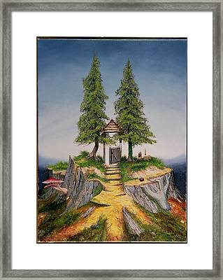 Treescape, 1992 Oil On Canvas Framed Print