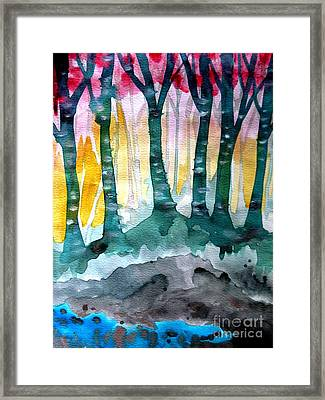 Treess Framed Print by Amy Sorrell