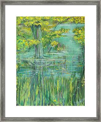 Framed Print featuring the painting Treeversable by Cathy Long