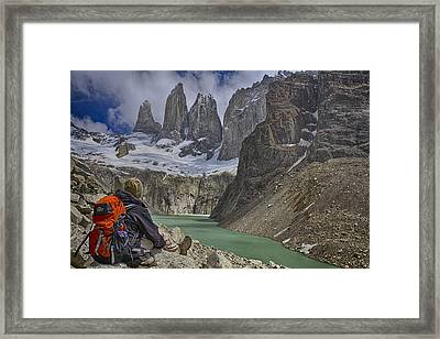 Framed Print featuring the photograph Trek To Torres Del Paine by Gary Hall